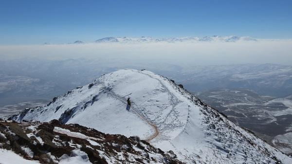 تصویر از قله دند – تبریز ( زمستان ۱۳۹۴ )